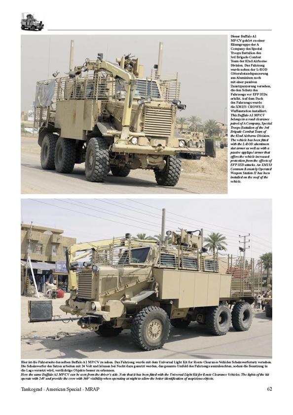 Tankograd 3011 MRAP Minengeschützte Patrouillenfahrzeuge der U.S NEU /& Army